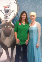 Debbie and Frozen characters