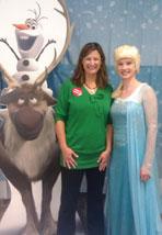 Debbie and Frozen characters