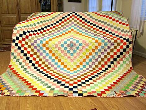 Grandma Bailey's knit quilt