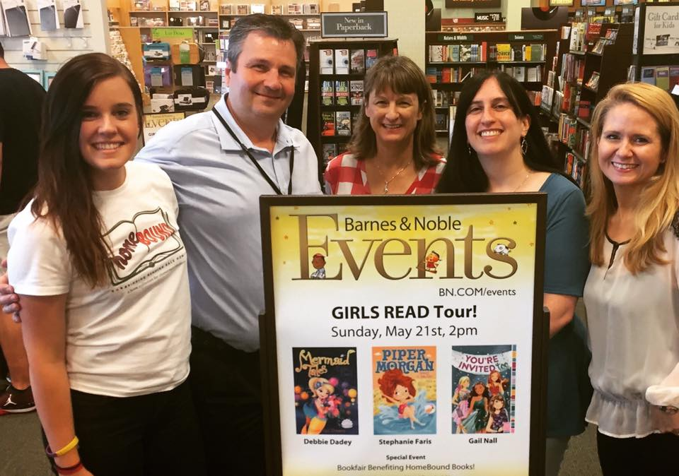 Thank you to Kelly Flemings of Barnes & Noble and Kelsey Butler of HomeBound Bringing Reading Back Home for being part of the Girls Read Tour with Debbie Dadey and Gail