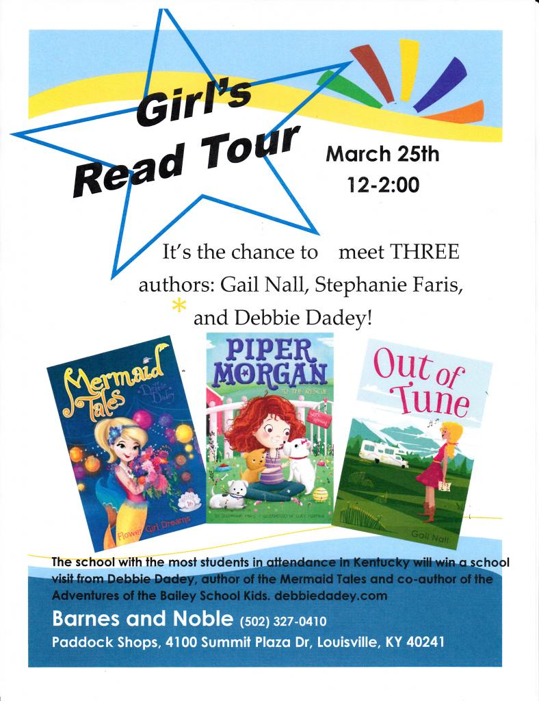Girls Read Tour at Louisville Barnes and Noble