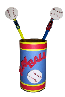 Baseballs on Pencils in Can Photo