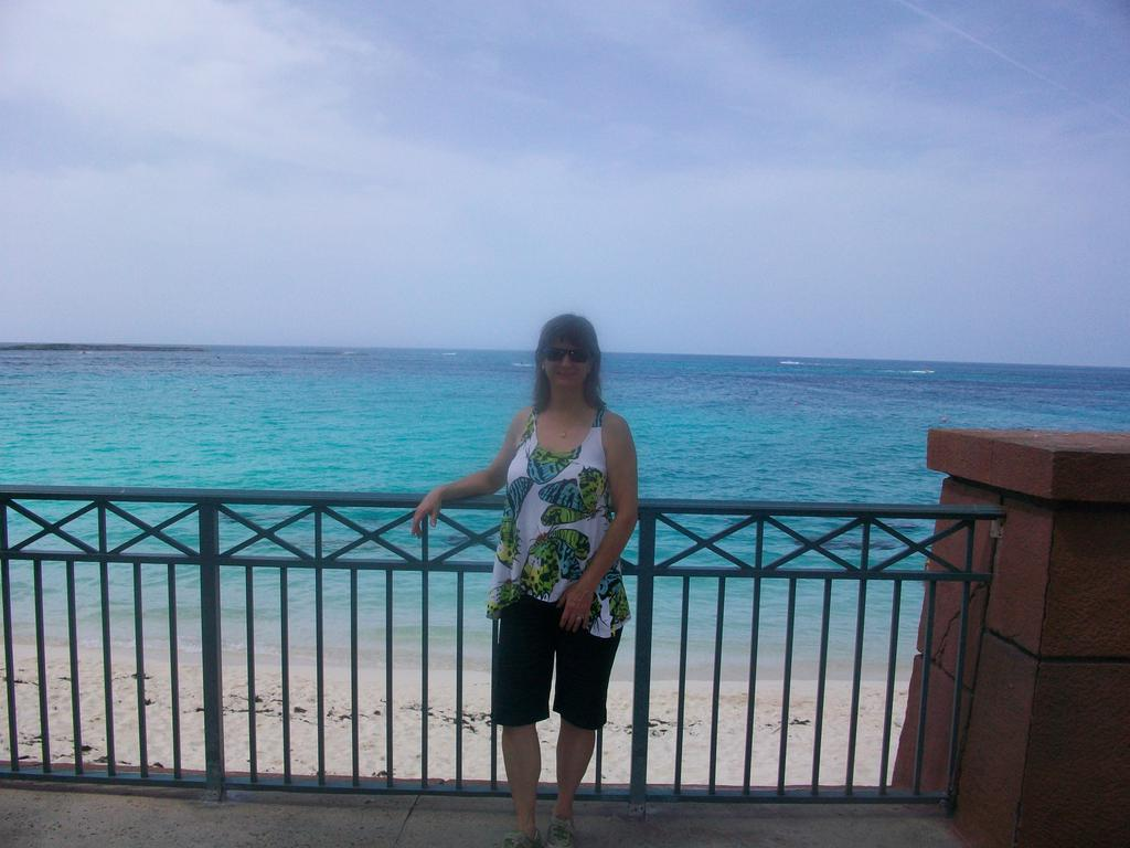 Debbie Dadey in the Bahamas
