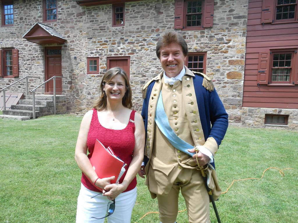 Debbie and Sam Davis as George Washington