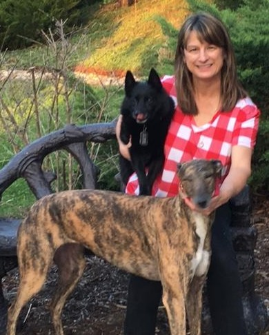 Debbie with Carmen and Shadow