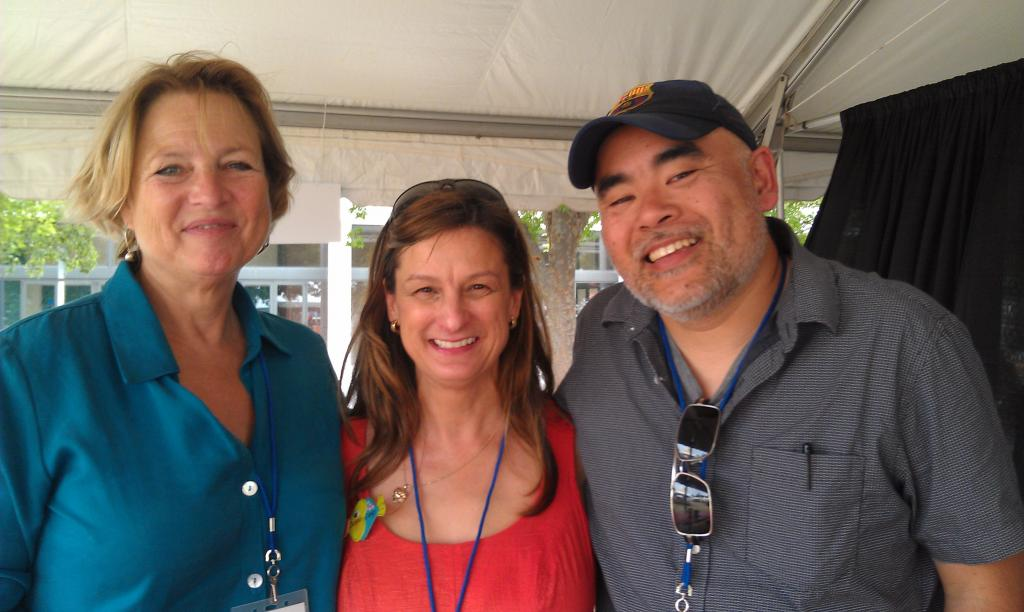 Sara Pennypacker, Debbie, and Dan Santat