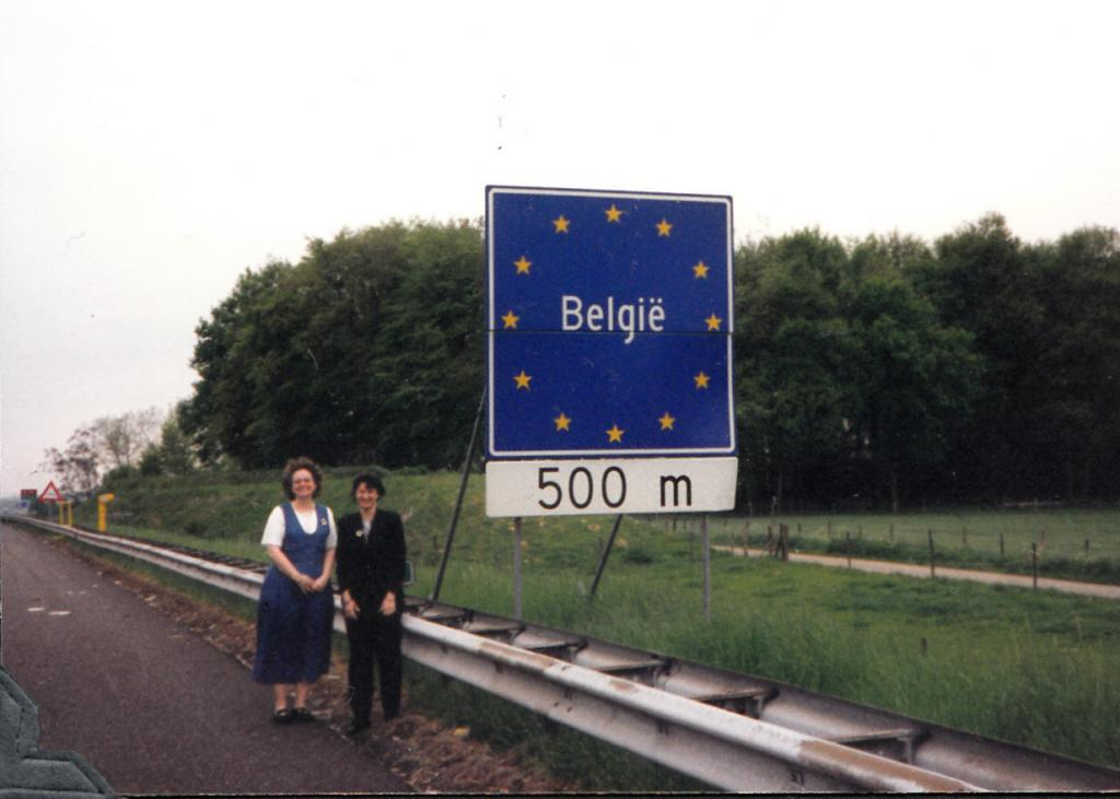 Marcia and Debbie in Belgium