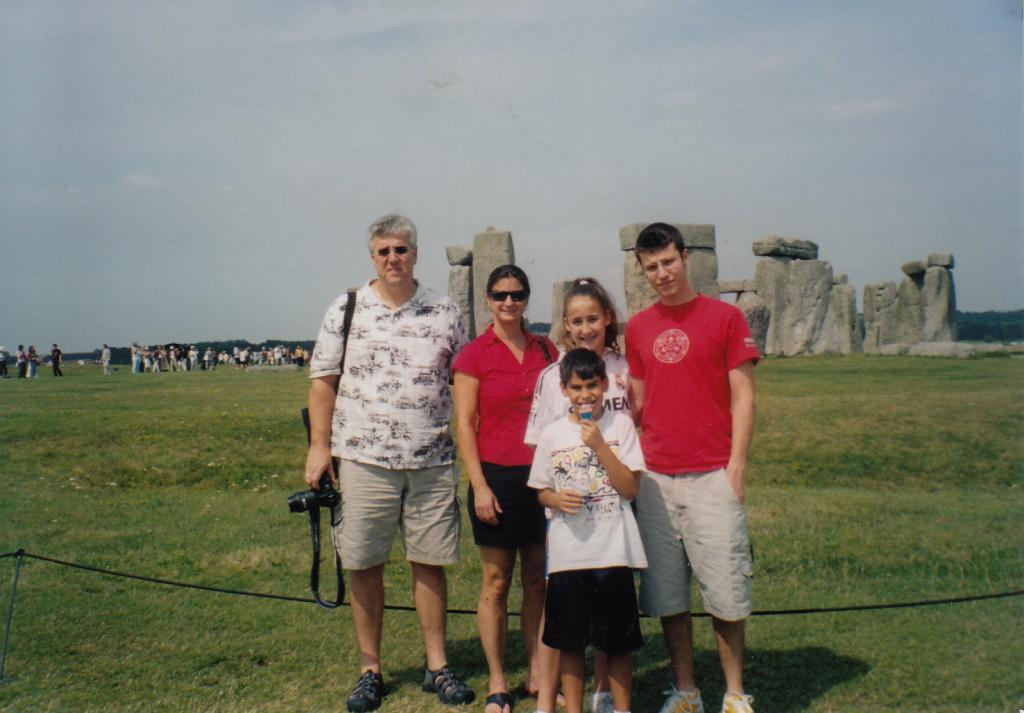 Debbie and gang at Stonehenge